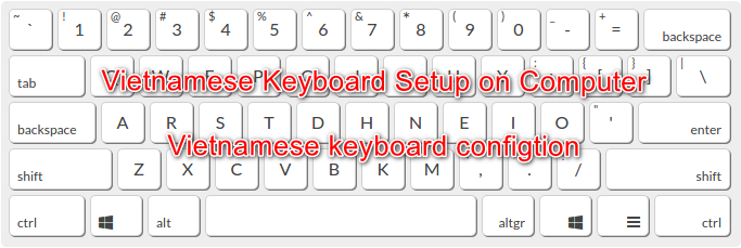 Vietnamese keyboard setup on computer